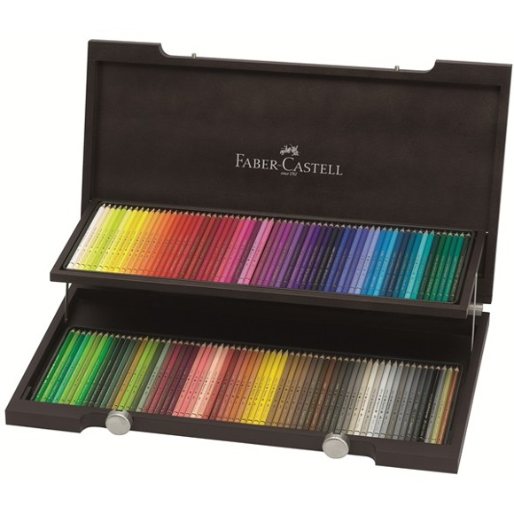 Faber-Castell - Polychromos - 120 farveblyanter i trækasse (110013)
