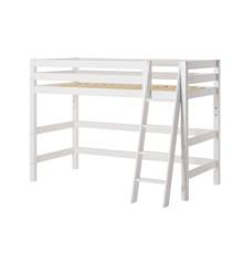 Hoppekids - PREMIUM Mellmhøj seng 70x160 med Skrå stige