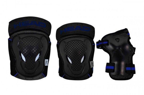 Head - Safty Set - Black/Blue - (PO.7 BLUE M)