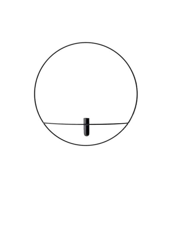 Menu - POV Circle Vase Large - Black (4815539)