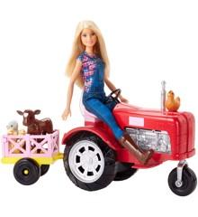 Barbie - Bonde Dukke og Traktor Sæt (FRM18)