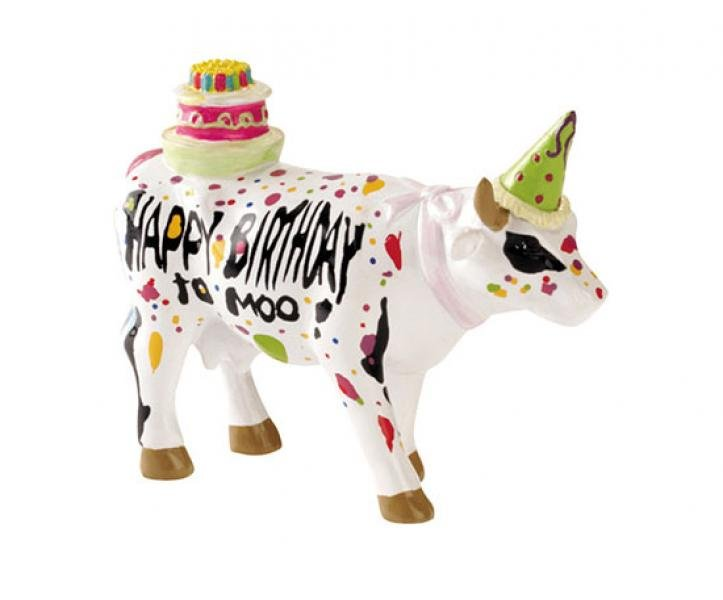 CowParade - Kuhfigur (Happy Birthday to Moo!) - Klein