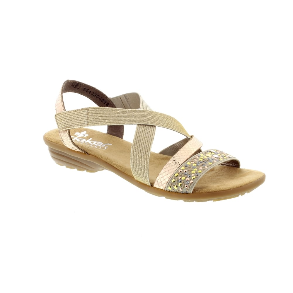 Kaufe Rieker V3463 60 BeigeKu Womens Sandals