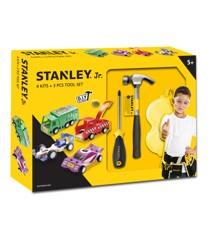 Stanley - Værktøjssæt med 4 Biler (U001-K04-T03-SY)