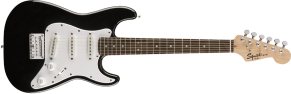 Squier By Fender - Mini Stratocaster V2 - Electric 3/4 Guitar (Black)