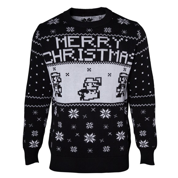 Nintendo Super Mario Black Sweater XXL