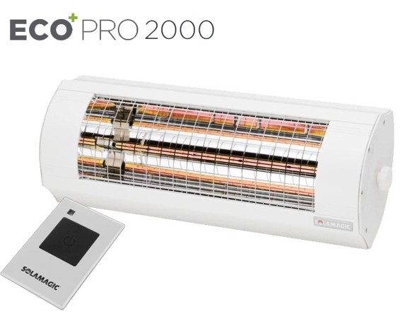 Solamagic - 2000 ECO+ PRO ARC Heater With remote - White