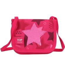 Top Model - Lille Håndtaske/ Pung m/Paillet Stjerne - Pink