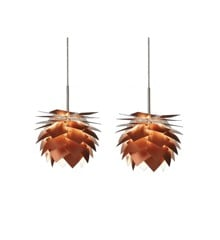 Dyberg Larsen - Pineapple Lamp G9 XS Set Ø 18 cm - Copper (6156)