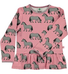 Småfolk - T-shirt w. Horse Print - Blush