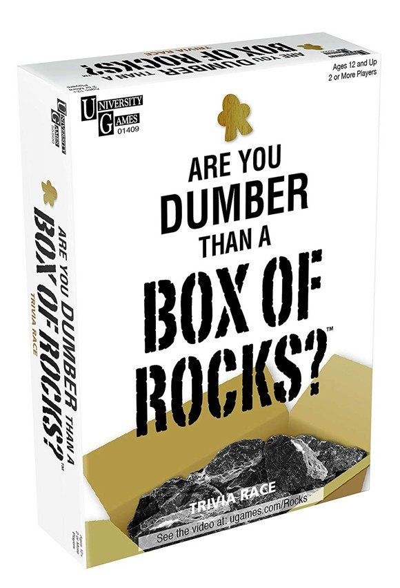 Are You Dumber Than a Box of Rocks Trivia Race Game (1409)