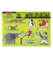 Melissa & Doug - Puslespil med Lyd - Zoo