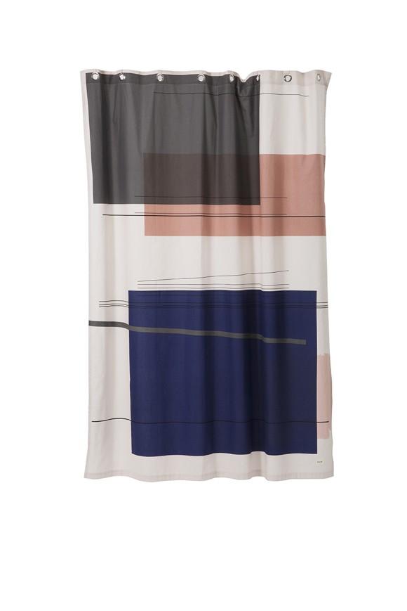 Ferm Living - Colour Block Shower Curtain - Mix (9187)