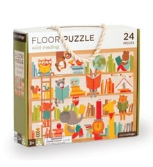 Petit Collage - Floor puzzle with Wild reading, 24 pcs