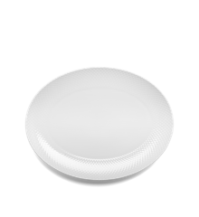 Lyngby Porcelæn - Rhombe Serving Tray 35 x 26,5 cm - White (201205)