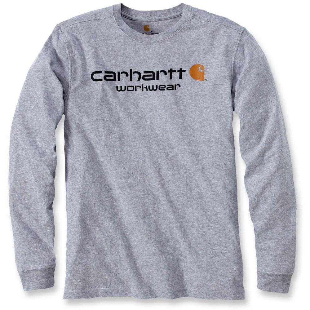 Carhartt Mens Long Sleeve Maddock Core Crew Neck Logo T-Shirt
