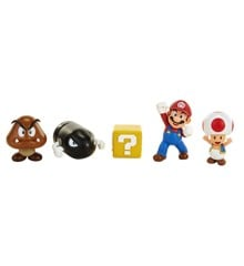 "Nintendo - 2.5"" - 5 Figure Mario Acorn Plains Diorama Set (64510)"