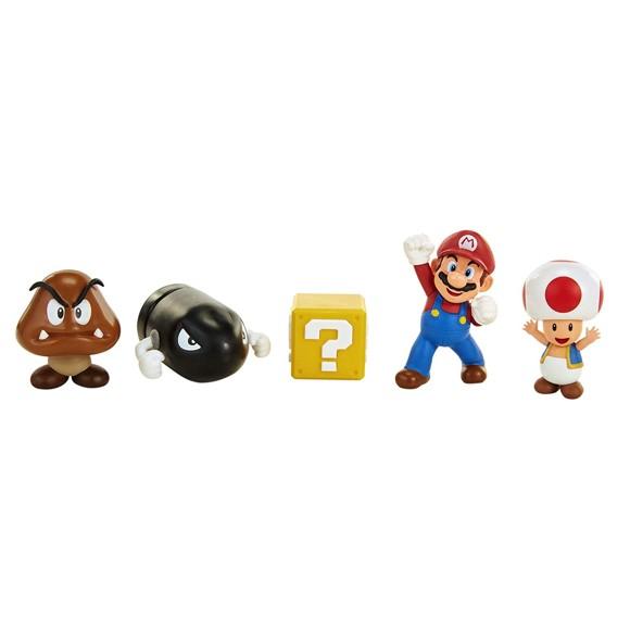 "Nintendo - 2.5"" - 5 Figure Mario Acorn Plains Diorama Set (64510)"