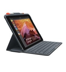 Logitech - Slim Folio Bluetooth tastatur og tablet cover Nordic