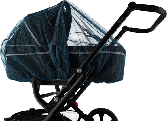 ​Småfolk - Mosquito Net for Baby Carriage with Apple Print