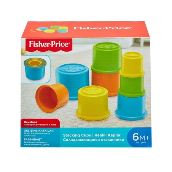 Fisher-Price - Building Beakers Stacking Blocks Cups (GCM79)