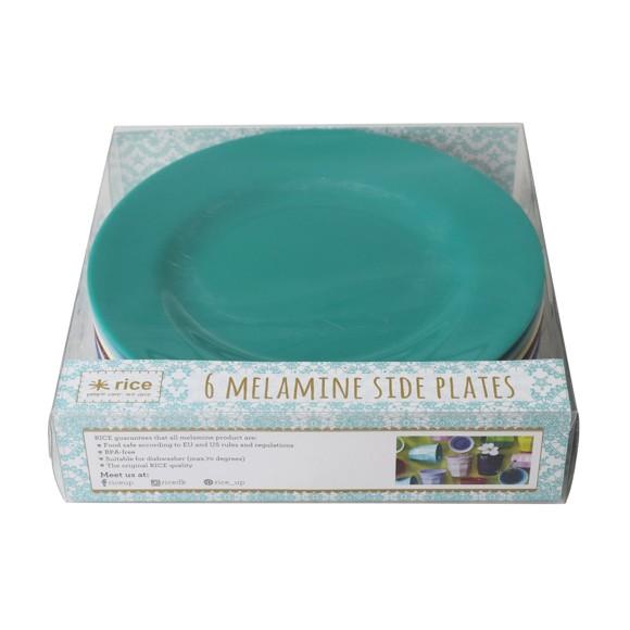 Rice - 6 stk Runde Melamin Tallerkner - Urban Colors