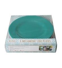 Rice - Melamine Round Side Plates 6 Pcs - Urban Colors