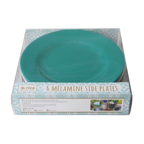Rice - Melamine Round Side Plates 6 Pcs - Urban Colors