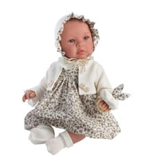 Asi dolls - Leonora doll in beige dress with flowers (24184930)