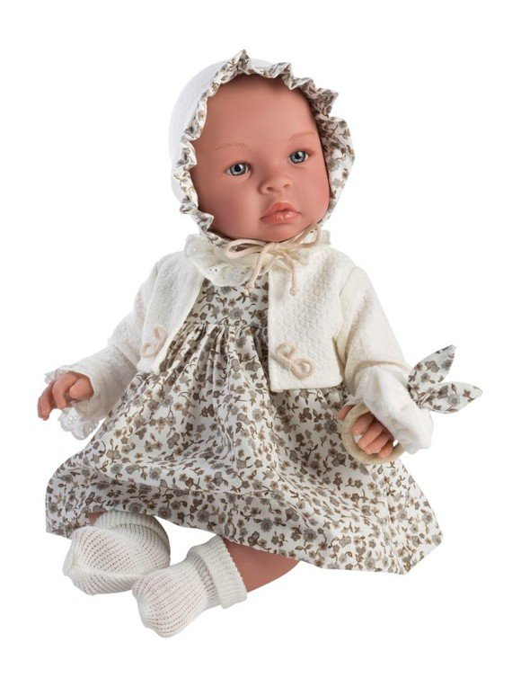 Asi dolls - Leonora doll in beige dress with flowers, 46 cm (24184930)