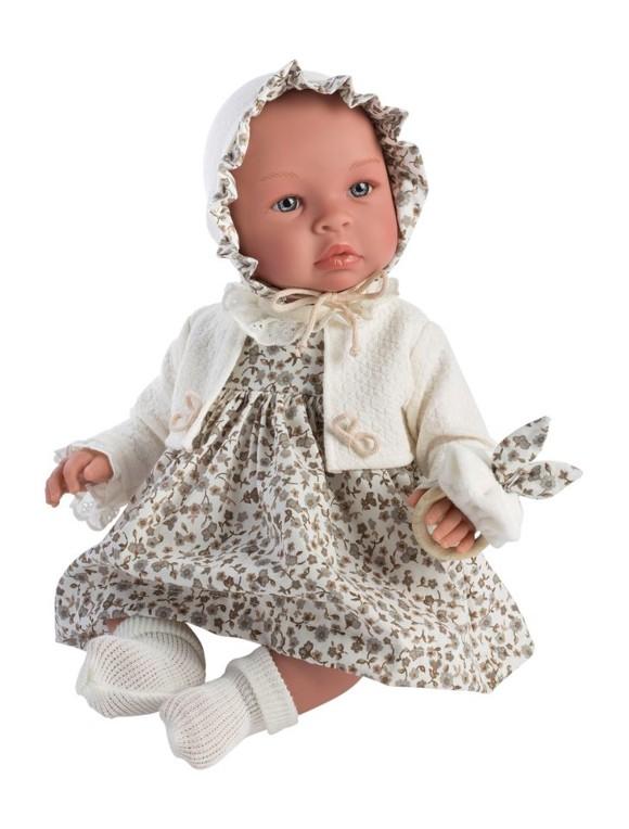 Asi - Leonora dukke i beige blomsterkjole, 46 cm