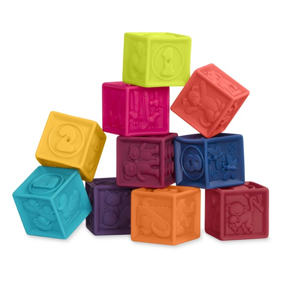 B. Toys - One Two Squeeze Soft Blocks (1002)