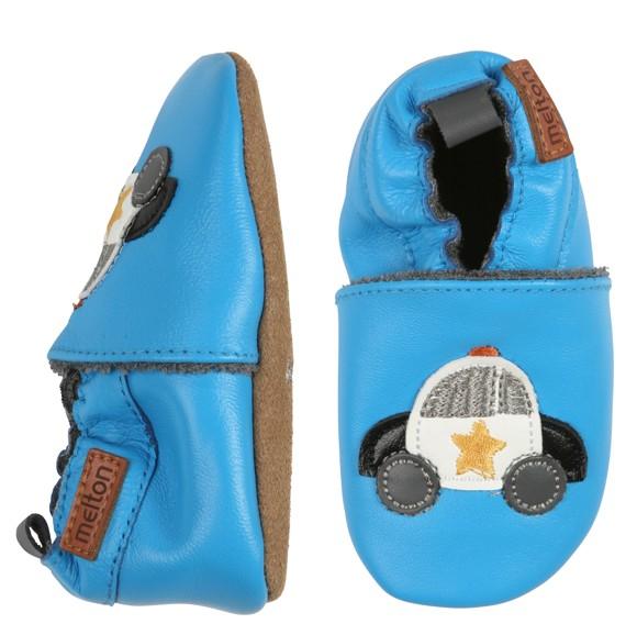 Melton - Leather shoe w. Polize car