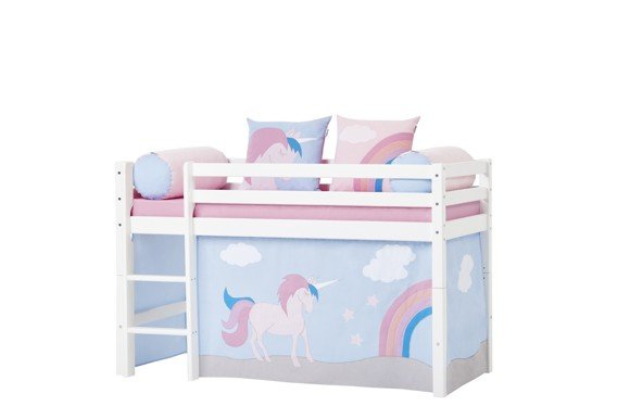 Hoppekids - Play Curtain Half-High Bed 70x160 cm - Unicorn
