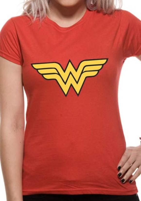 Wonder Woman - Logo  T-Skjorter. Kvinner