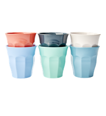 Rice - Medium Melamine Cups 6 Pcs. - Happy 21st