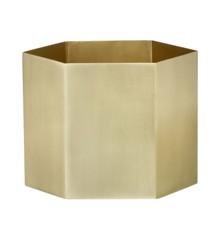 Ferm Living - Hexagon Pot Large - Brass (4105)