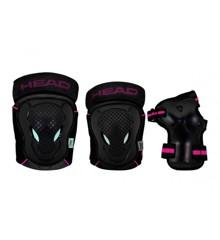 Head - Beskyttelses Sæt - Sort/Pink - XS