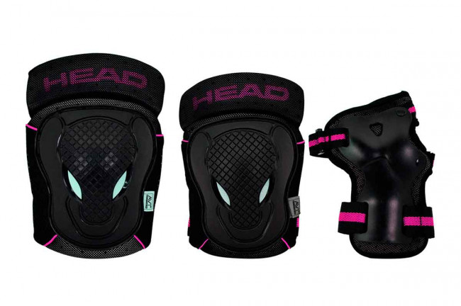 Head - Safty Set - Black/Cerise - (PO.7 CERISE XS)