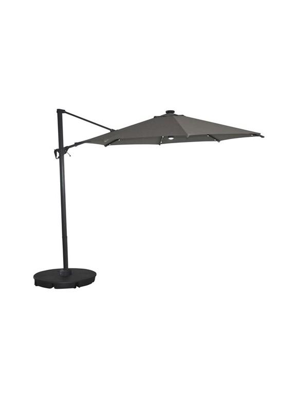 Living Outdoor - Torben Parasol Haning With Foot Ø 3,5 Meter - Grey