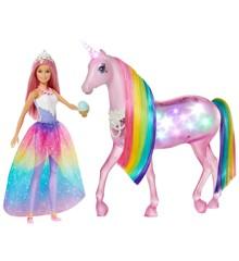Barbie - Dreamtopia Magic Touch Enhjørning og Dukke