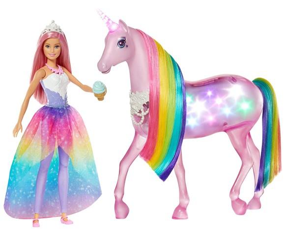 Barbie - Dreamtopia Magic Touch Unicorn & Doll (FXT26)