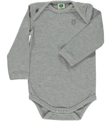 Småfolk - Organic Basic Longsleved Body - Lt. Grey Mix