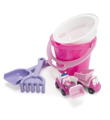 Dantoy - My Little Princess Bucket Set with 2 Vehicles in Net (1432)
