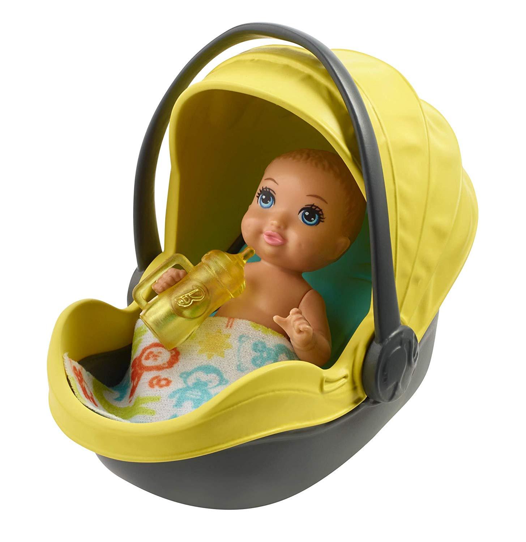 Buy Barbie - Skipper, Babysitter INC - Yellow Stroller w ...