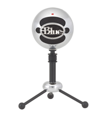 Blue - Microphone Snowball Brushed Aluminium