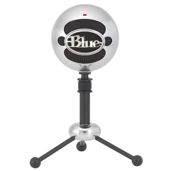 Blue - Microphone Snowball Brushed Aluminium