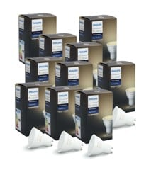 Philips Hue - 10XGU10 Single bulb bundle - White Ambiance