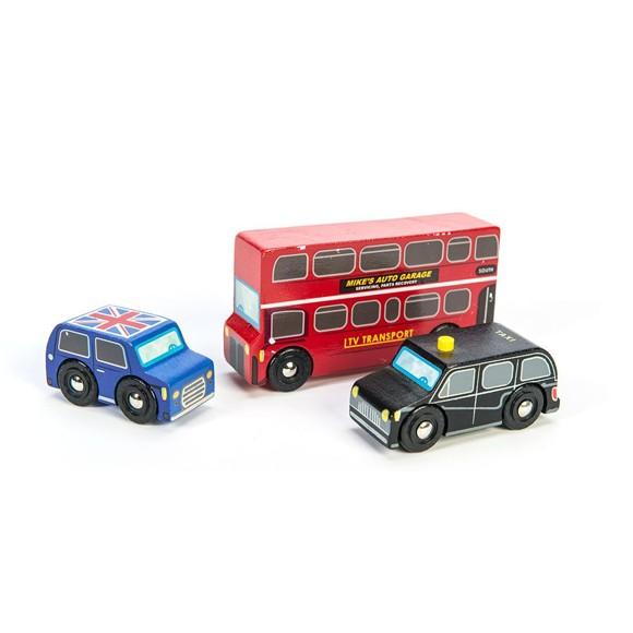 Le Toy Van - London bilsæt til garager og legetæpper