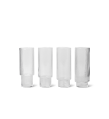 Ferm Living - Ripple Long Drink Glass Set of 4 - Clear (5445)